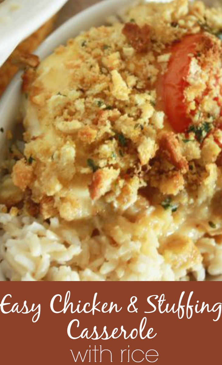 Easy Chicken Casserole With Stuffing