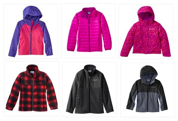 kids columbia jackets on sale