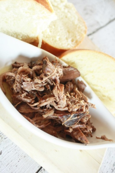 These pulled beef crock pot sandwiches are so moist, flavorful and can be served on any kind of bread for a crowd, or for just one person. If you're craving a french dip, but craving the comfort of a crock pot recipe, this is the pulled beef crock pot recipe to try! Great for a fall dinner, a winter meal or to serve at a party if you need a lot of food, but you're needing to serve a meal on a budget. {read more}
