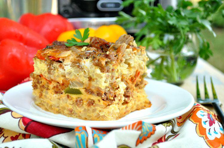 Crock Pot Italian Sausage Breakfast Casserole