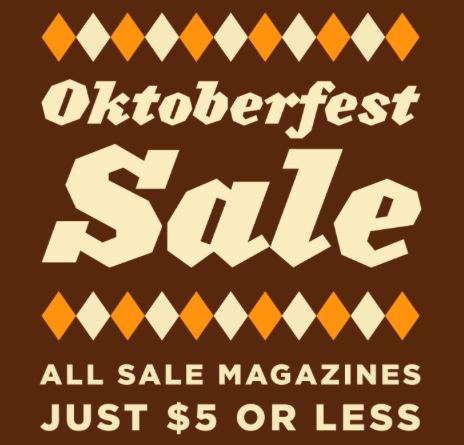 Magazines on Sale This Weekend
