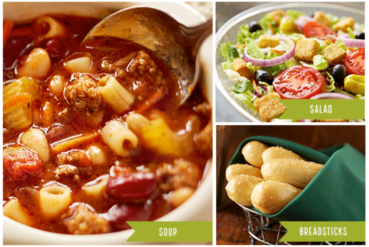 graphic about Olive Garden Printable Coupons called Contemporary Olive Yard Cafe Printable Discount coupons: $6.99
