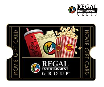 $50 Regal Cinemas Gift Card Only $40 + Free Shipping