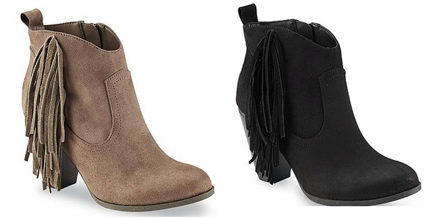 Sears: Bongo Fringe Ankle Boots ONLY
