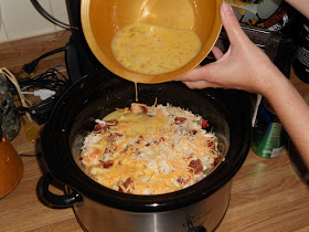 crock pot egg brunch casserole
