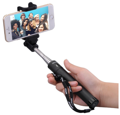 selfie stick with bluetooth remote shutter 15 off. Black Bedroom Furniture Sets. Home Design Ideas