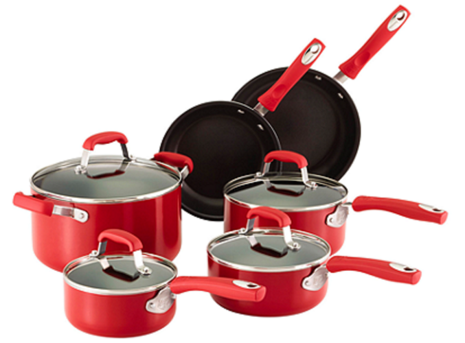 Guy Fieri 10-pc. Red Aluminum Cookware Set, Only $54.97 (Reg. $160!)