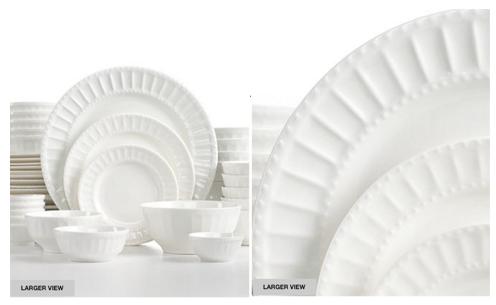 Dinnerware Set  sc 1 st  Coupon Cravings & Macyu0027s.com: 42-Piece White Elements Dinnerware Set only $26.24 ...
