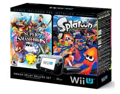 Nintendo Wii U Splatoon Amp Super Smash Bros Console Deluxe