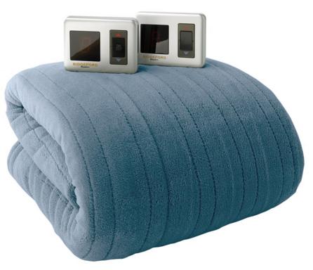 biddeford plush heated blanket