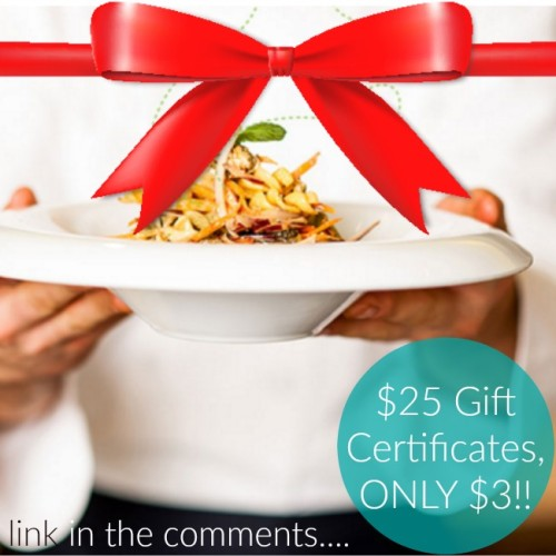 discounted gift certificates to local restaurants