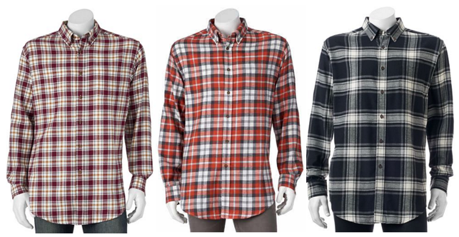 Mens Button Down Flannel Shirts - Greek T Shirts