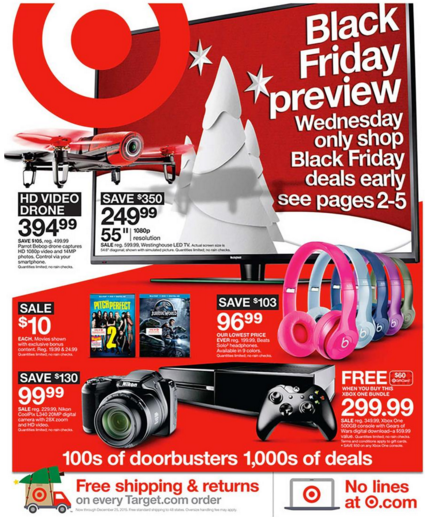 pre black friday target ad 4