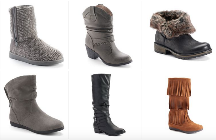 Kohl's.com: Women's Boots as Low as $11.99 Each! -