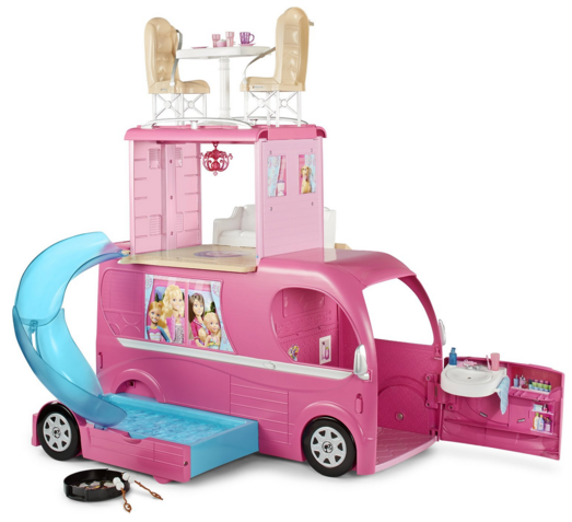 Pop Up Vehicles : Barbie pop up camper vehicle at best price