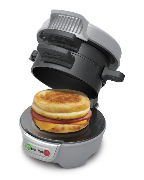 Popular Hamilton Beach Breakfast Sandwich Maker, ONLY $19.96