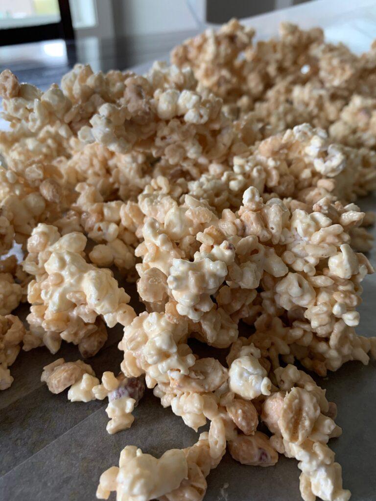 sweet popcorn dessert