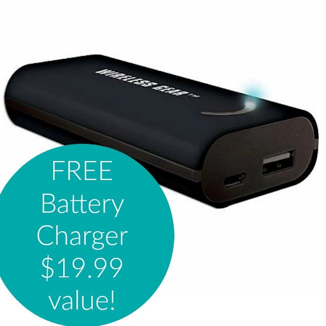 FREE Portable Power Battery Charger