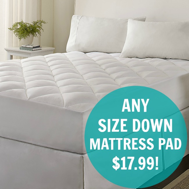 Microfiber Down Alternative Mattress Pad