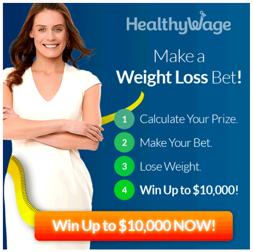 Join HeathyWage For Your Chance at $10,000 & Lose Weight!