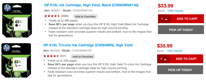 cheap inkjet printer ink