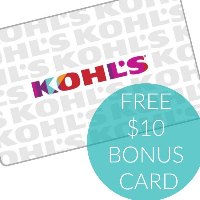 free 10 Kohls Bonus Card