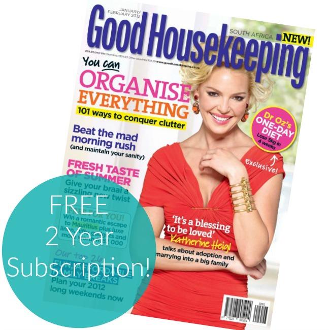 Good Housekeeping: Free 2-Year Good Housekeeping Magazine Subscription