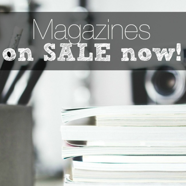 magazines on sale