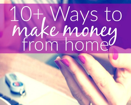 10 awesome ways to make money filling surveys out at home. Great post for new moms!