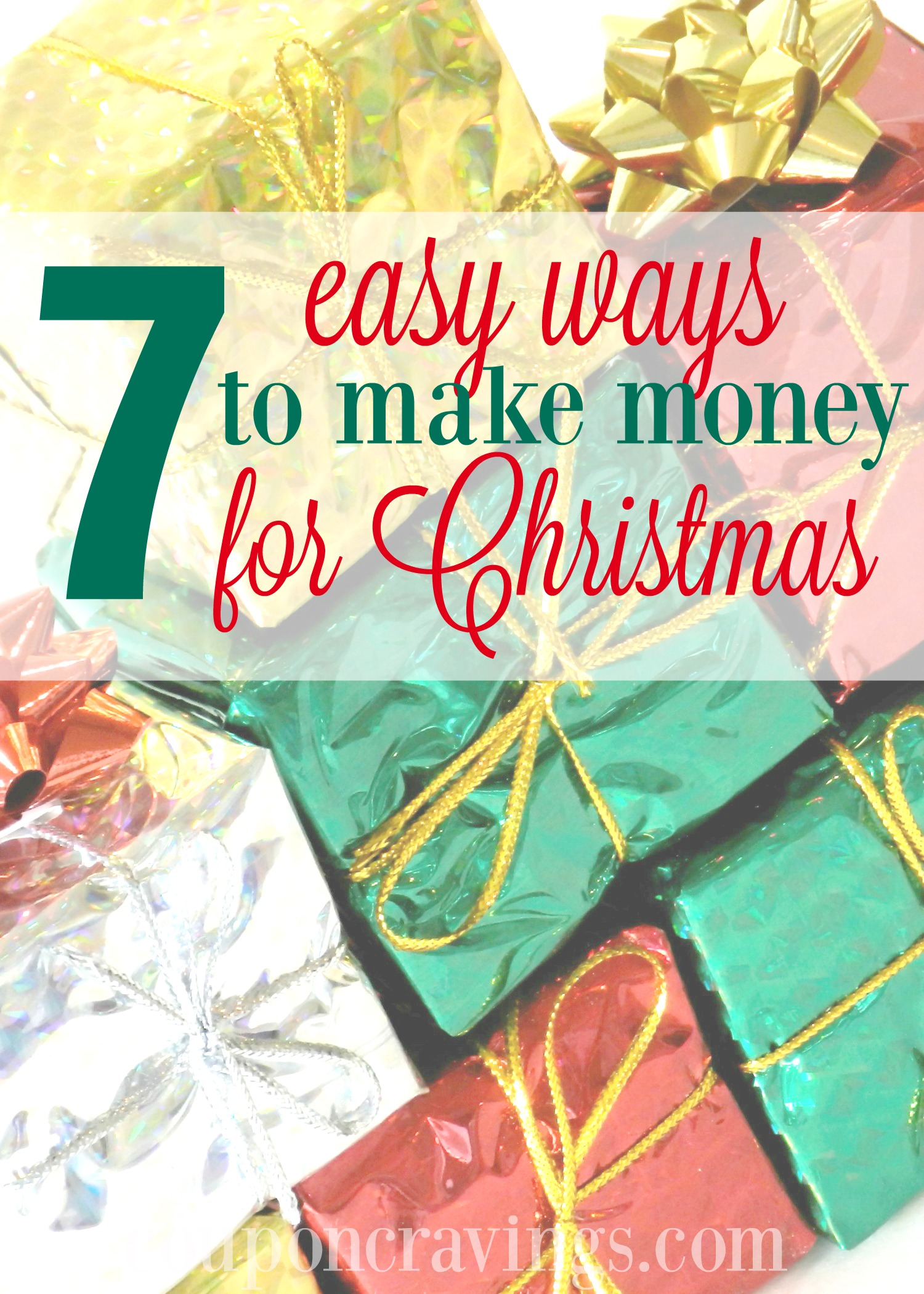 I want to make next years Christmas easier and found this article on how to make money for stay at home moms, tips and more - GREAT for putting money aside throughout the year! https://couponcravings.com