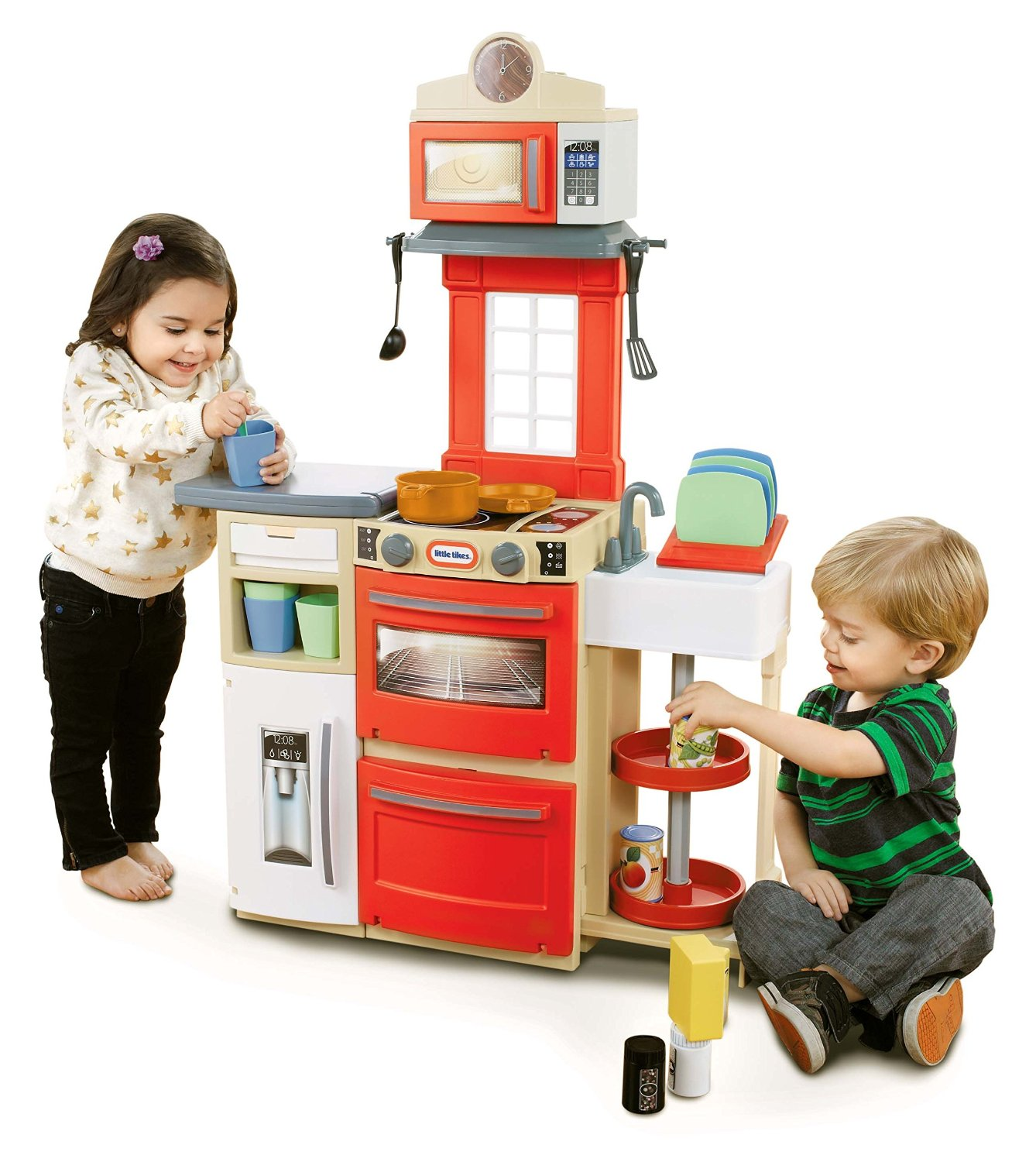 Little tikes cook 39 n store kitchen playset at best price for Little kitchen set