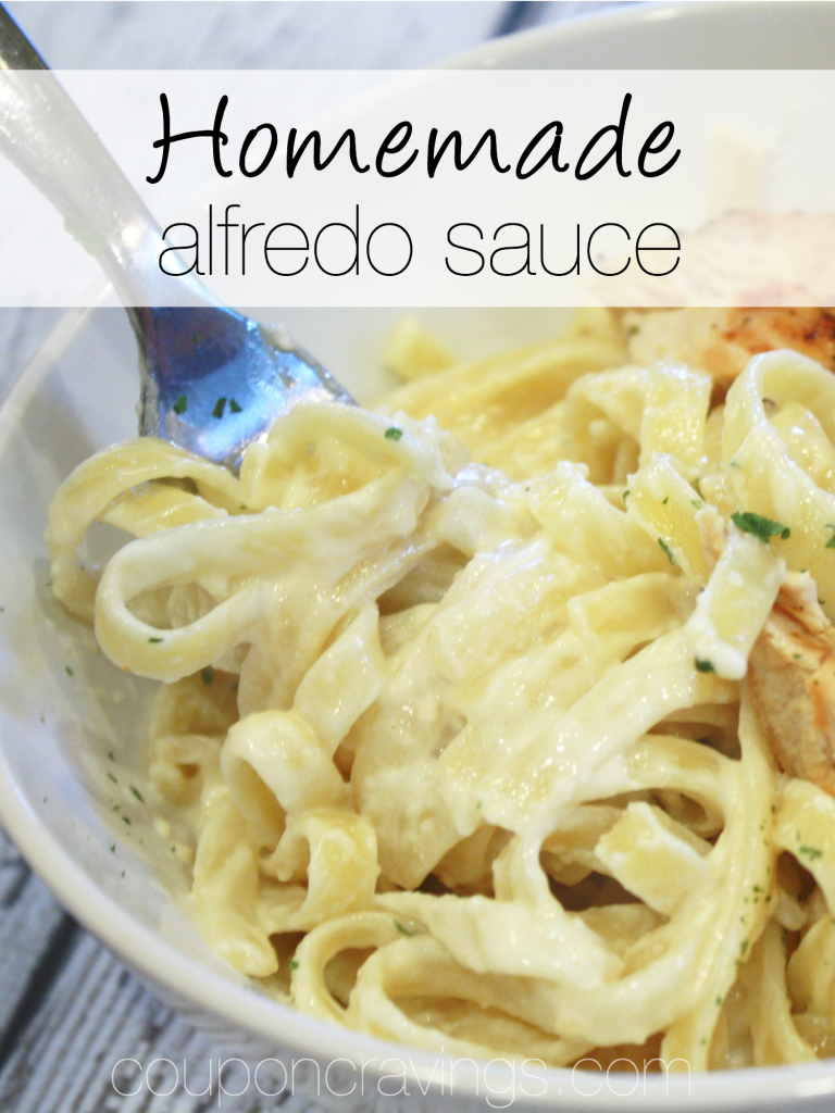 Looking for fettucini alfredo sauce homemade recipes? This easy alfredo sauce recipe is a favorite of our family - in fact, it makes it's way onto my meal plan about once every couple of weeks. See how you can have alfredo sauce easy Olive Garden style at you home. https://couponcravings.com/alfredo-sauce/