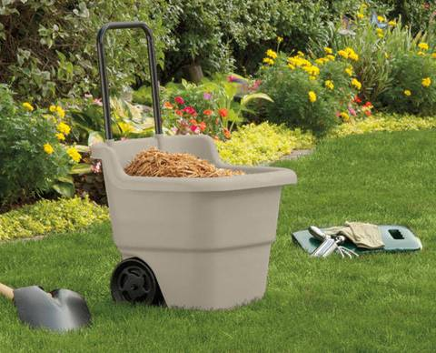 Suncast15.5-Gallon Capacity Poly Rolling Lawn Cart