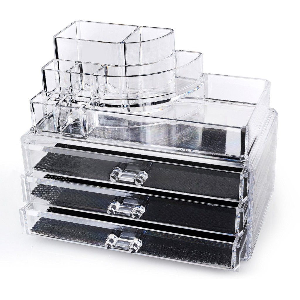 countertop acrylic makeup organizer on sale 74 off. Black Bedroom Furniture Sets. Home Design Ideas