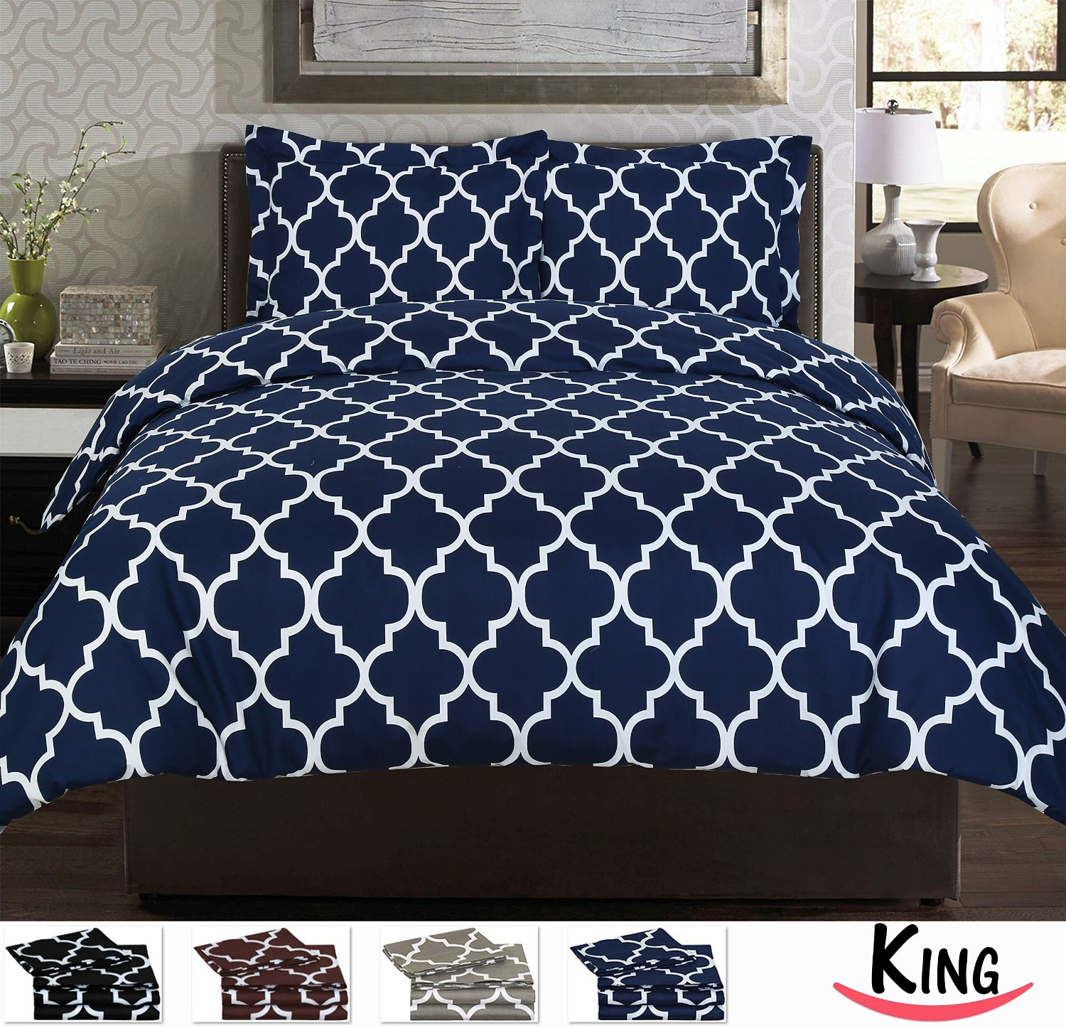 King Printed Duvet-Cover Set