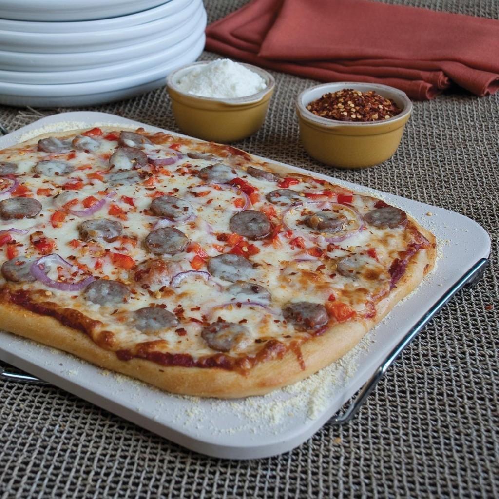 Pizza Baking Stone : Ceramic pizza baking stone on sale