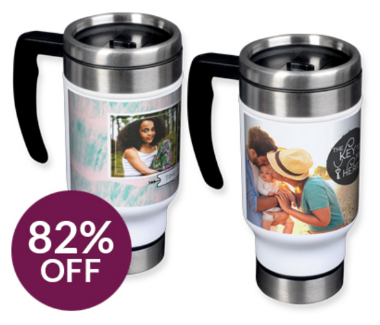 Custom Photo Travel Mug Ships for $9 (Regularly $17 + Shipping!)