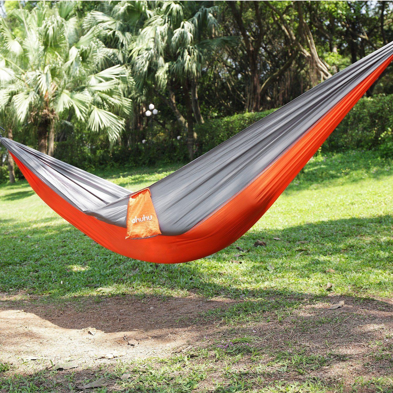 Ohuhu Portable Nylon Fabric Travel Camping Hammock, Less Than $18! -