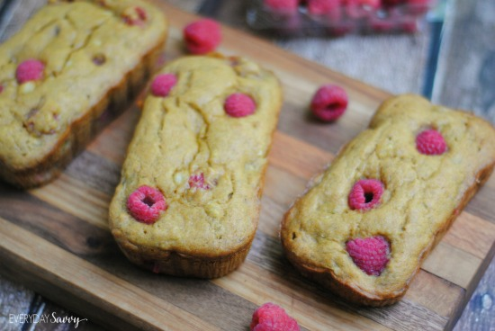 This raspberry banana bread is a great option for mother's day brunch ideas if you want to make something ahead and freeze it.