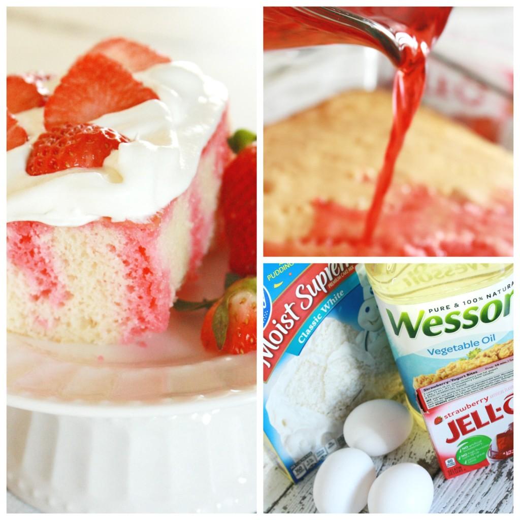 strawberry poke cake_