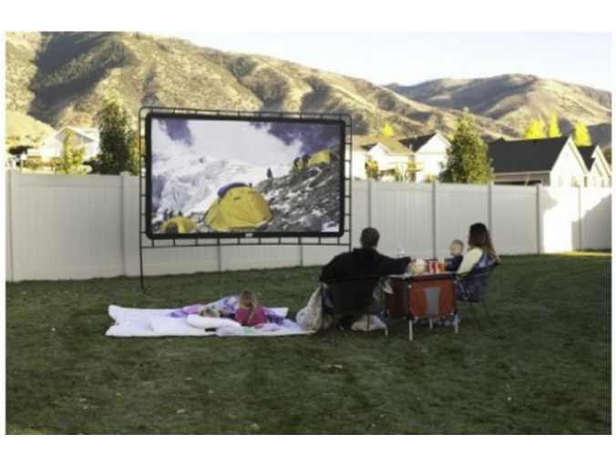 Make it an Outdoor Movie Night! Indoor/Outdoor Movie Screen at Best Price!