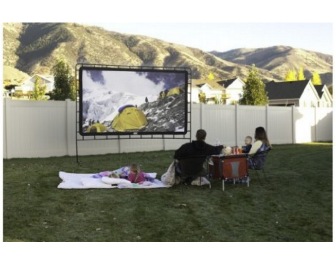 make it an outdoor movie night indoor outdoor movie screen at best