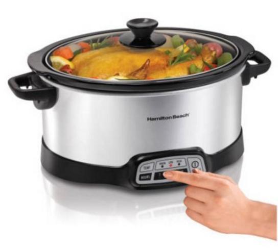 Hamilton beach programmable 5 quart slow cooker on sale for Hamilton beach pioneer woman slow cooker
