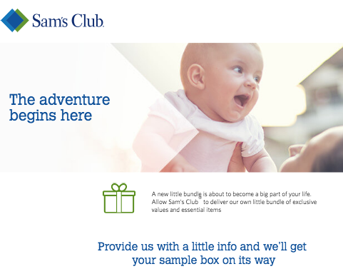 free sams club baby sample