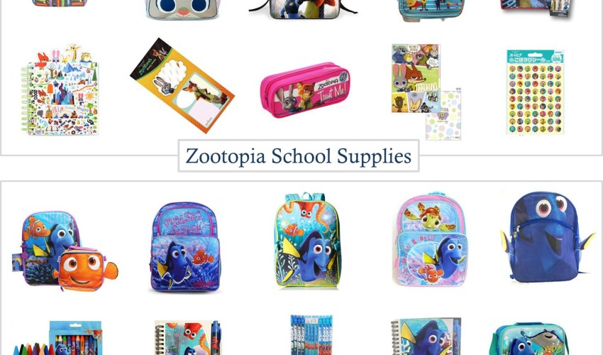 Zootopia School Supplies & Finding Dory School Supplies