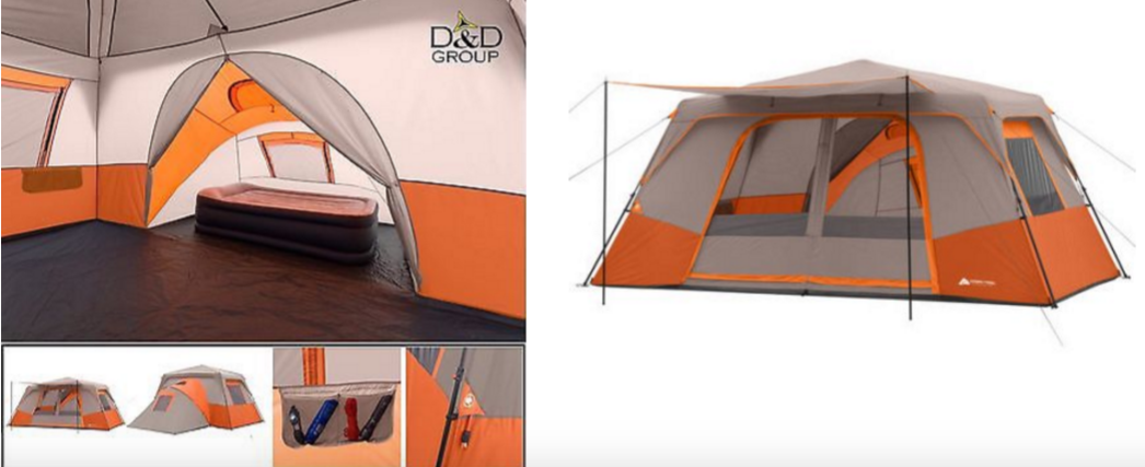 & Ozark Trail 14u0027 x 14u0027 Instant Cabin Tent Sleeps 11! Only $99.97 -