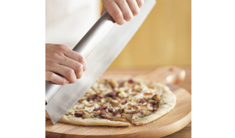 extra long stainless steel pizza cutter