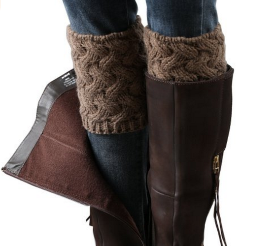 Cable Knit Boot Cuffs on Sale