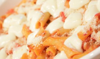 Four Cheese Baked Mostaccioli Recipe