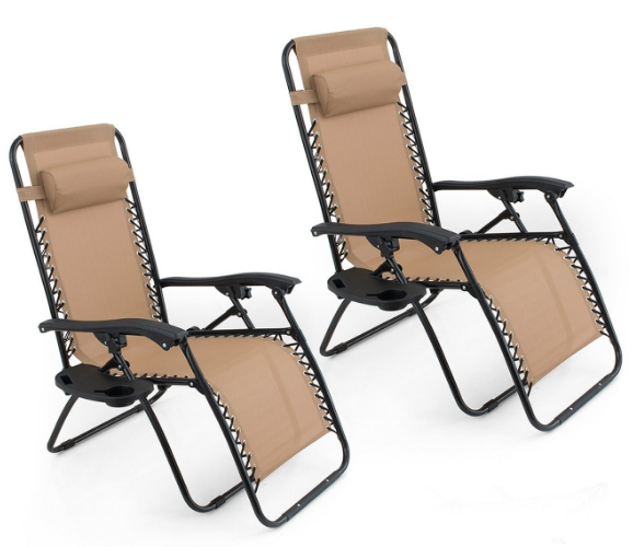 2-Count Zero Gravity Chairs, Less Than $28 Each!